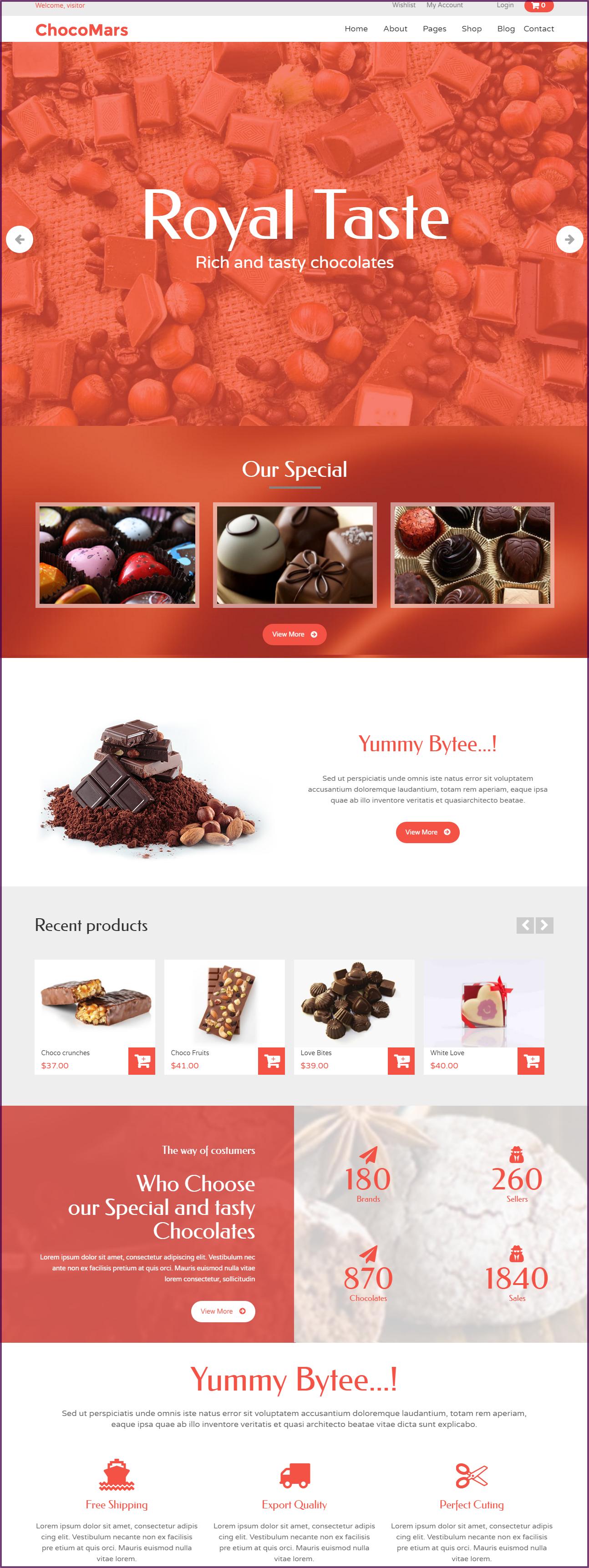 ChocoMars WordPress Ecommerce theme