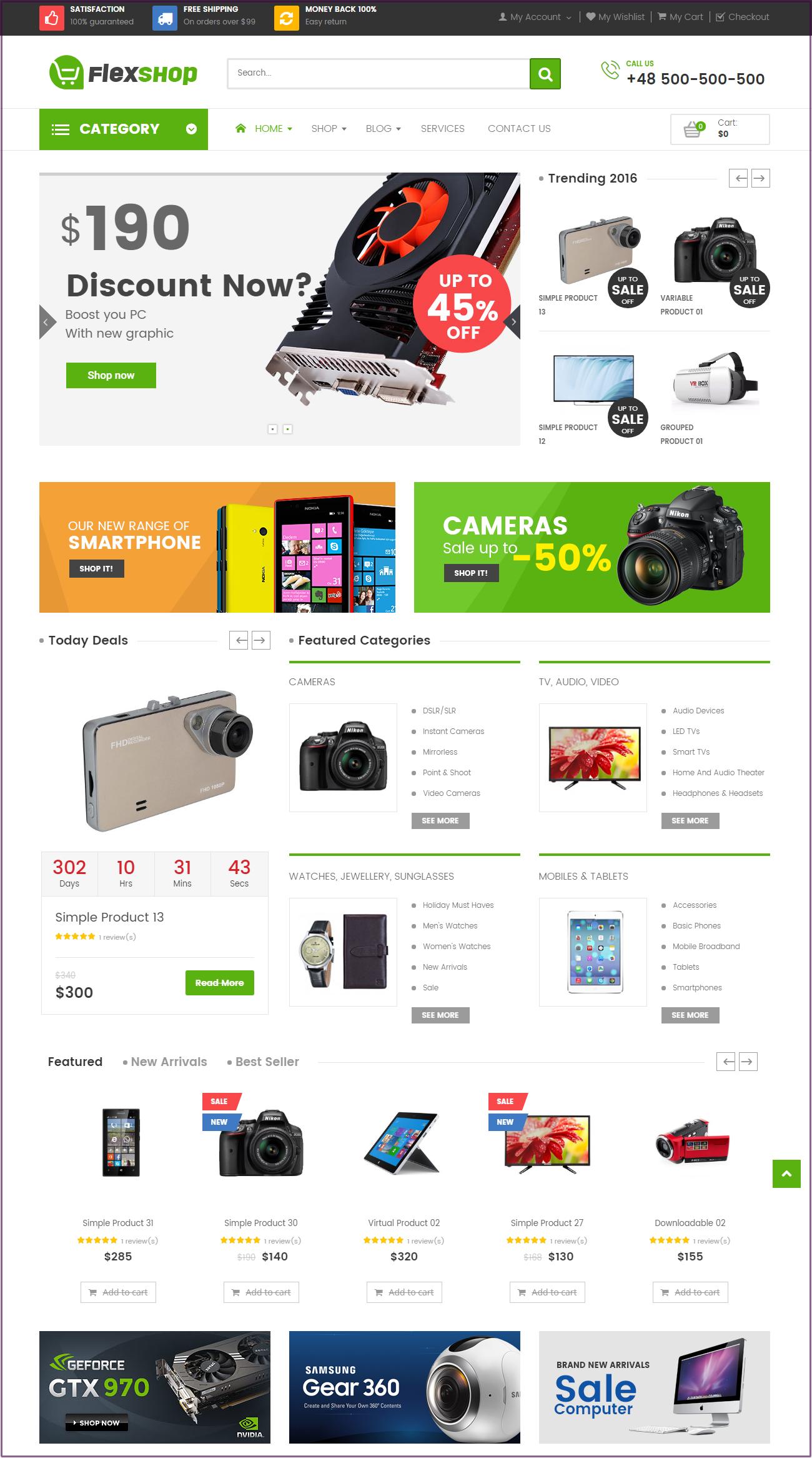 Flexshop ecommerce theme wordpress