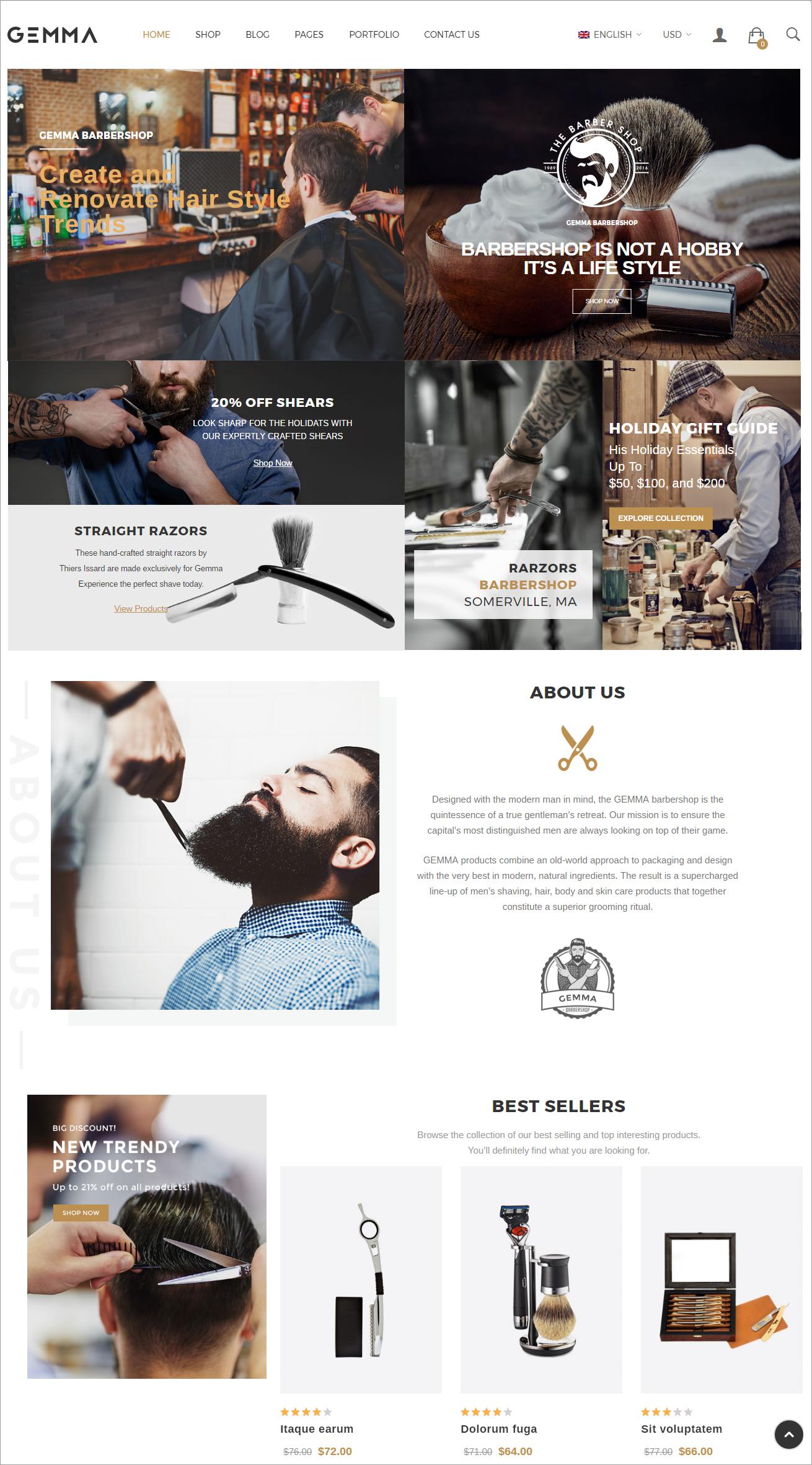 GEMMA - WordPress Ecommerce Website theme