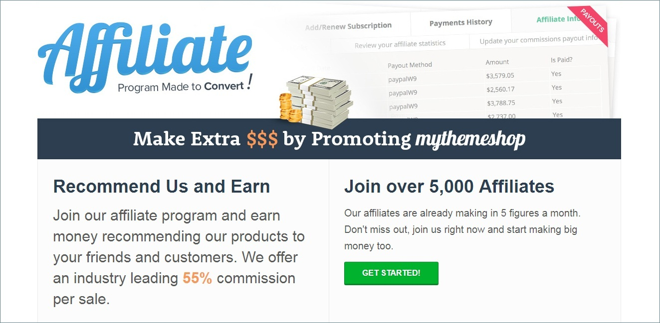 MyThemeShop Premium wordpress themes affiliate program