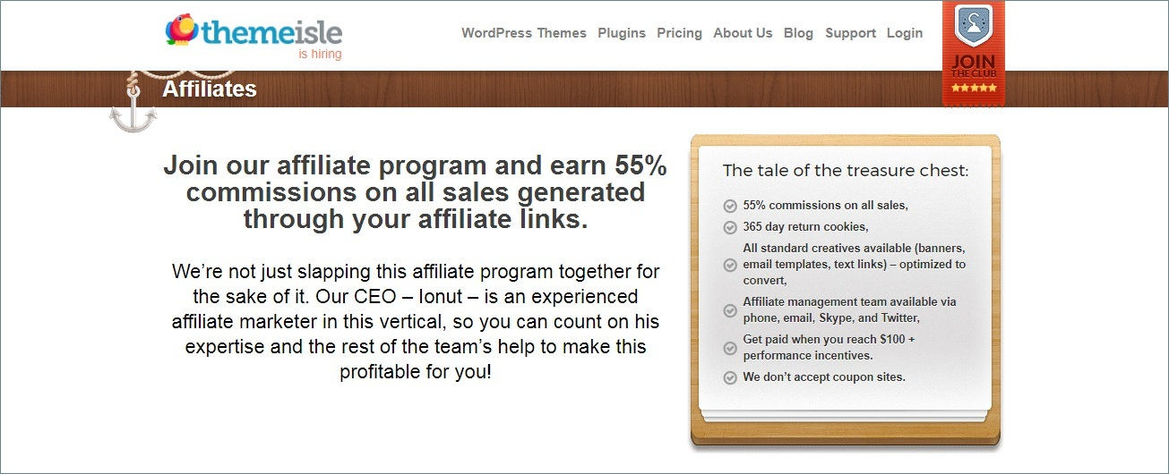themeisle WordPress theme affiliate programs