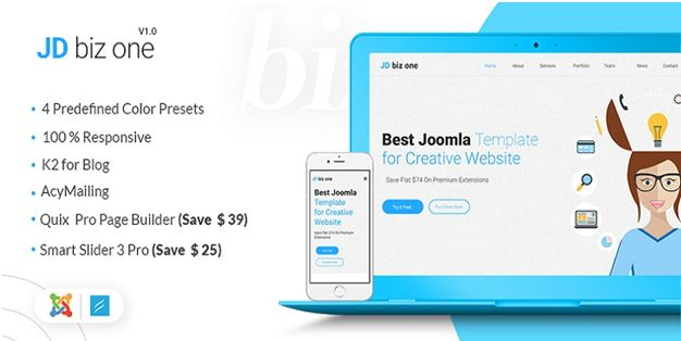 Why JD BizOne Joomla Template