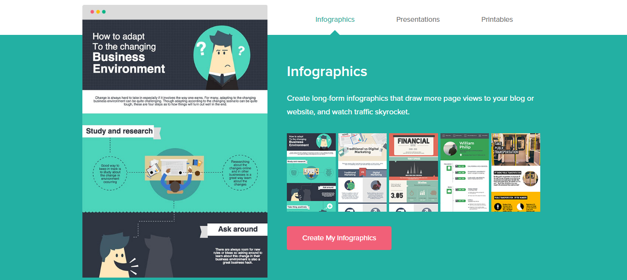 pictochart - Create animated infographics online free