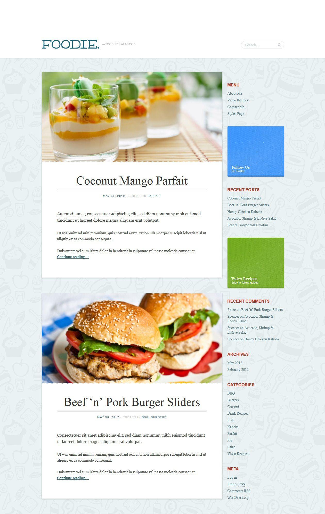 Foodie - Best wordpress food blog themes
