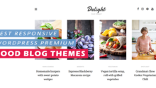 Best Premium Wordpress Food Blog Themes - Responsive