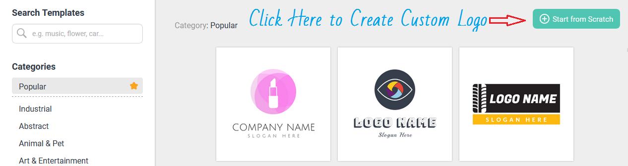 DesignEVO create logo online free