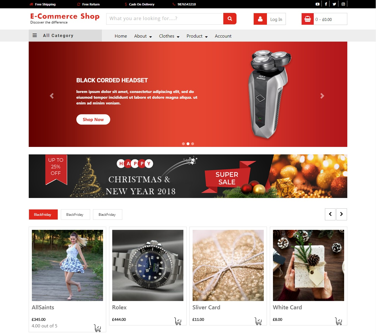 VW Ecommerce Shop WordPress Theme
