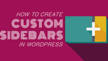 Add custom side bar in wordpress