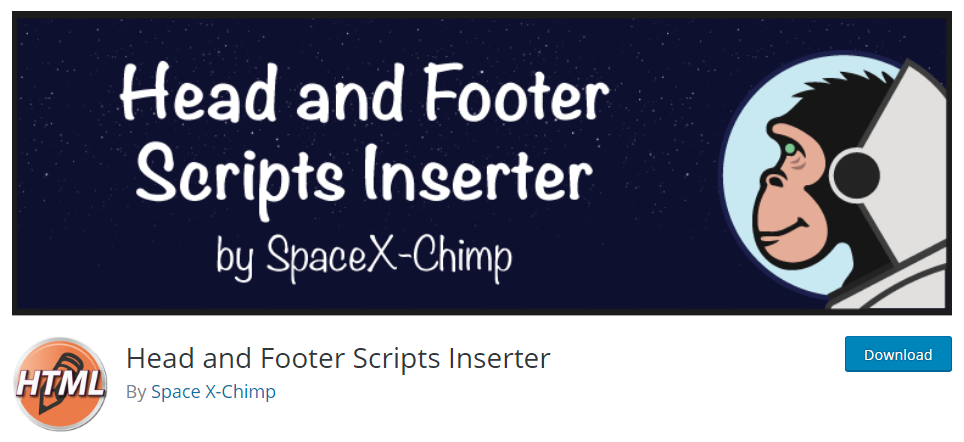Header and Footer Scripts Inserter